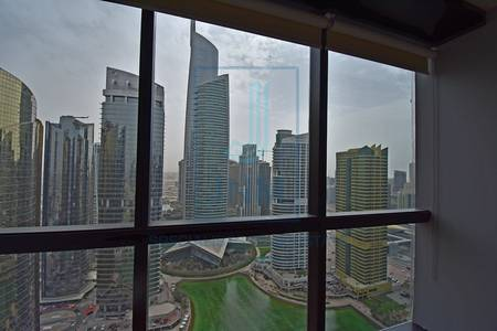 Office for Rent in Jumeirah Lake Towers (JLT), Dubai - High floor view @ Almas from JBC1 fitted
