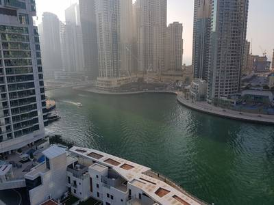 2 Bedroom Apartment for Rent in Dubai Marina, Dubai - Full Marina View Middle Floor in 105K