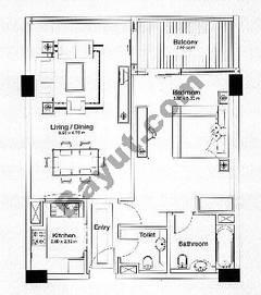 Floorplan 1 Bedroom Type A