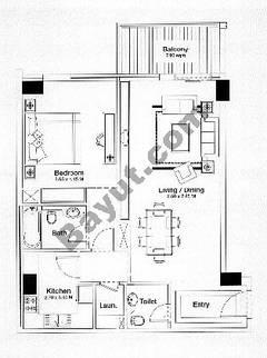 Floorplan 1 Bedroom Type B