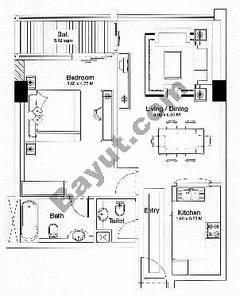 Floorplan 1 Bedroom Type C