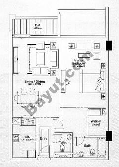 Floorplan 1 Bedroom Type D