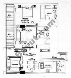 Floorplan 2 Bedroom Type C