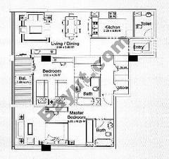 Floorplan 2 Bedroom Type D