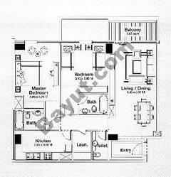 Floorplan 2 Bedrooms Type A