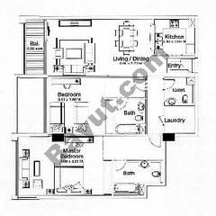 Floorplan 2 Bedrooms Type B