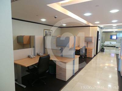 Spacious fully furnished and partitioned office for rent