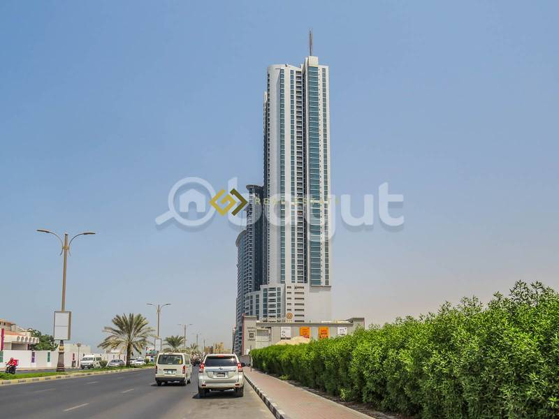 Commission Free  1 Bedroom Hall Apartment for Rent in Ajman Corniche Tower Ajman