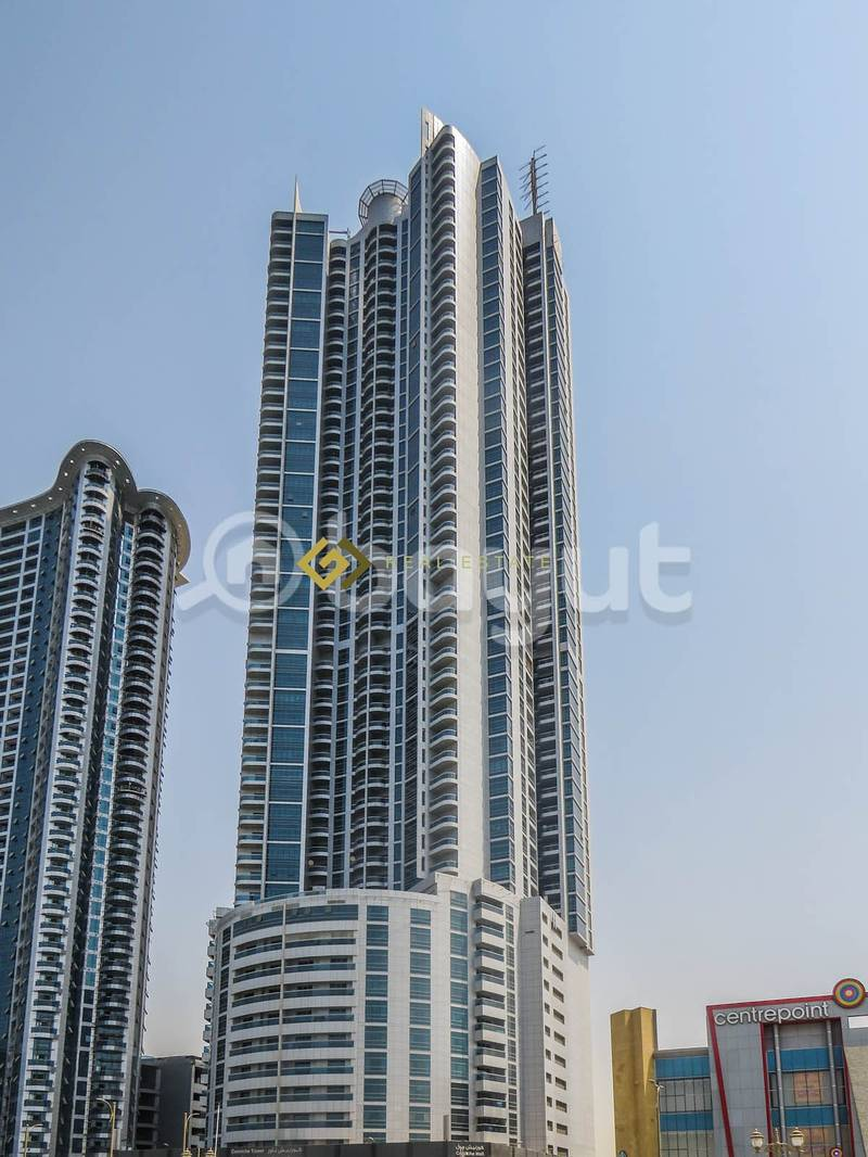 2 Commission Free  1 Bedroom Hall Apartment for Rent in Ajman Corniche Tower Ajman