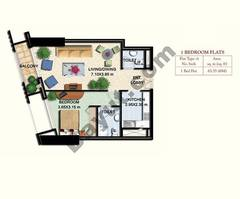 1 Bed Type 1B