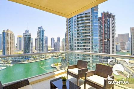 2 Bedroom Flat for Rent in Dubai Marina, Dubai - Furnished I Full Marina View I Large Balcony