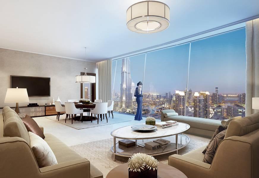 2 Burj Khalifa Facing 3 Bedroom plus Maids