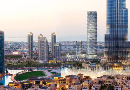 فلیٹ 3 غرف نوم للبيع في وسط مدينة دبي، دبي - Burj Khalifa Facing 3 Bedroom plus Maids