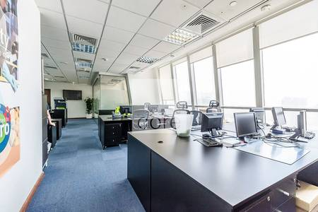 Office for Rent in Jumeirah Lake Towers (JLT), Dubai - Fitted partitioned office in Tiffany Tower