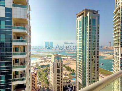 2 Bedroom Apartment for Rent in Dubai Marina, Dubai - Bright and spacious 2BR with great view and laundry