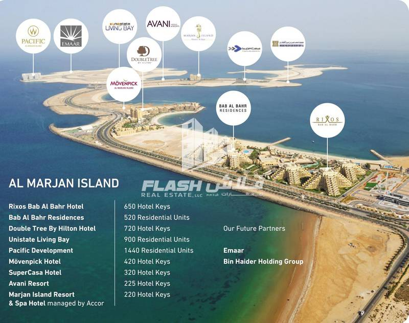 2 Mix-used Plot Beachfront for Sale in AlMarjan Island