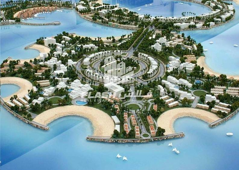 2 Mix-used Plot Beachfront for Sale in AlMarjan Island