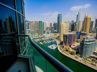 3 Bedroom Flat for Rent in Dubai Marina, Dubai - 3 Bed Full Marina View at Marina Wharf 2