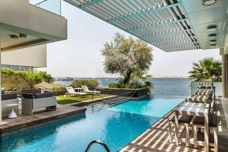 5 Bedroom Villa for Sale in Al Raha Beach, Abu Dhabi - Absolute Seafront VIP Villa|Call to view