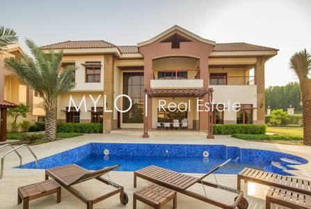 فیلا  للايجار في جزر جميرا، دبي - Modern Luxury |  Lake Facing 5BR Mansion