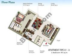 1 Bedroom Type A1-A
