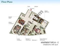 2 Bedroom Type A1-E