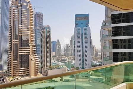 2 Bedroom Apartment for Rent in Dubai Marina, Dubai - Amazing View * Large terrace * Chiller inc