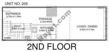 Studio - Unit 205 - 2nd Floor