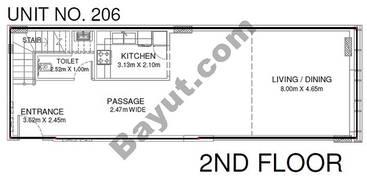 Studio - Unit 206 - 2nd Floor