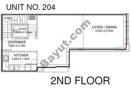 1 Br - Unit 204 - 2nd Floor
