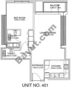 1 Br - Unit 401 - 4th Floor