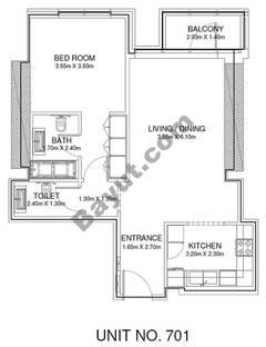 1 Br - Unit 701 - 7th Floor