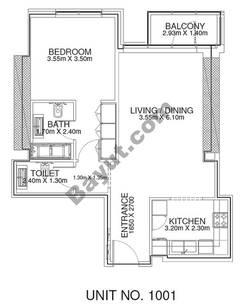 1 Br - Unit 1001 - 10th Floor