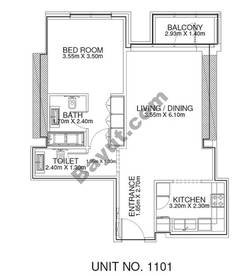 1 Br - Unit 1101 - 11th Floor