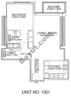 1 Br - Unit 1301 - 13th Floor