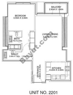 1 Br - Unit 2201 - 22nd Floor