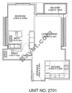 1 Br - Unit 2701 - 27th Floor