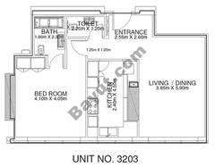 1 Br - Unit 3203 - 32nd Floor