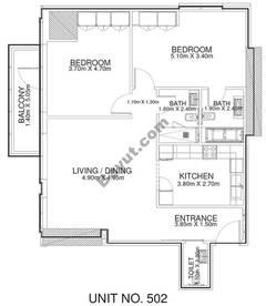 2 Br - Unit 502 - 5th Floor