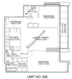2 Br - Unit 506 - 5th Floor