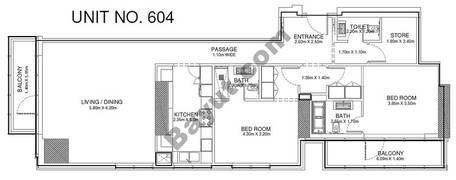 2 Br - Unit 604 - 6th Floor