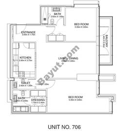 2 Br - Unit 706 - 7th Floor