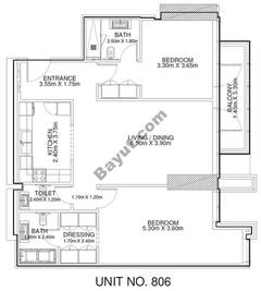 2 Br - Unit 806 - 8th Floor