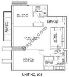 2 Br - Unit 903 - 9th Floor