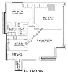 2 Br - Unit 907 - 9th Floor