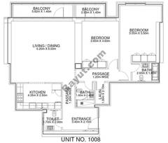 2 Br - Unit 1008 - 10th Floor
