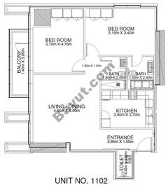 2 Br - Unit 1102 - 11th Floor