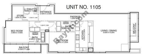 2 Br - Unit 1105 - 11th Floor