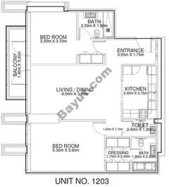 2 Br - Unit 1203 - 12th Floor