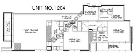2 Br - Unit 1204 - 12th Floor